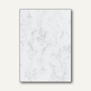 Sigel Designpapier Marmor, DIN A4, 200 g/m², grau, 50 Blatt, DP396