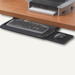 Fellowes Office Suite Tastaturschublade, 365x605x75 mm, schwarz/silber, 8031201