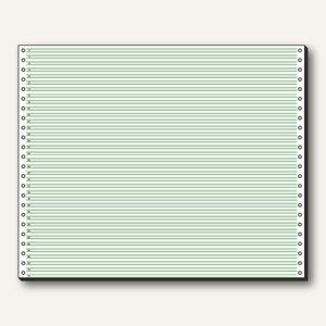 Sigel Tabellierpapier DIN A3 quer, ohne Längsperforation, 1-fach, 60g,grün,12371