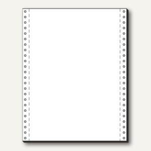 Tabellierpapier DIN A4 hoch, 240x30.48cm, Längsperf, 1-fach, 70 g, blanko, 12241
