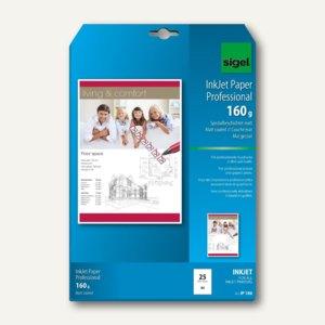 Sigel InkJet Papier Professional, DIN A4, Color spezial, 160g/m², 25 Blatt,IP186