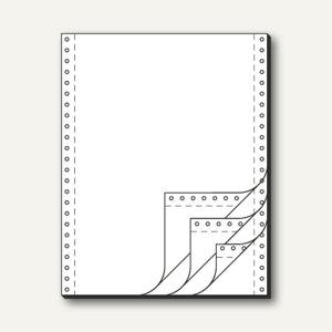 Sigel Tabellierpapier DIN A4 hoch, mit Längsperf., 4-fach, 60 g, weiß, 32244