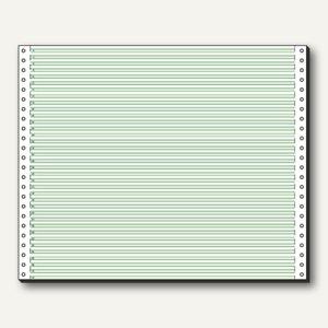 Sigel Tabellierpapier DIN A3 quer, mit Längsperf., 1-fach, 60 g, grün, 12370