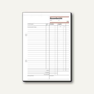 Sigel Formular Kassenbericht A5 hoch, Bestandsrechnung, 50 Blatt, KA518