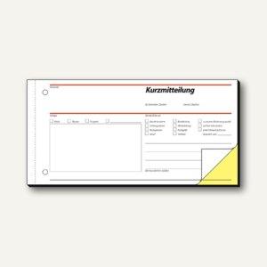 Formular Kurzmitteilung DIN lang durchschreibend 2 x 40 Blatt