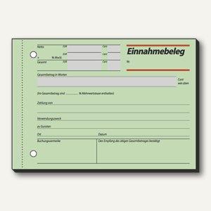 Formular Einnahmebeleg grün DIN A6 quer 50 Blatt