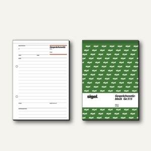 Sigel Formular Gesprächsnotiz DIN A5, hoch, weiß, 50 Blatt, GE515