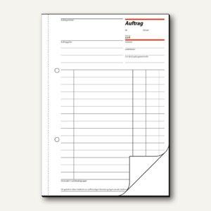 Sigel Formular Auftrag DIN A5, hoch, 2x 50 Blatt, AU525