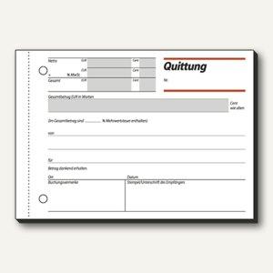 Formular Quittung m. MwSt. Nachweis DIN A6 quer 50 Blatt