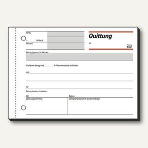 Sigel Formular Quittung, DIN A6 quer, einfaches Satzbild, 50 Blatt, QU619