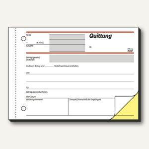 Formular Quittung einfaches Satzbild DIN A6 quer 2x40 Blatt