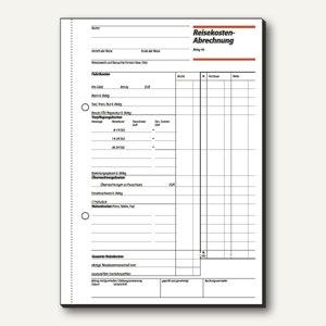 Formular Reisekostenabrechnung DIN A5 hoch Einzelreise