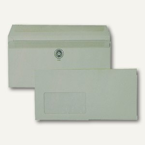 Fensterbriefumschlag DL, selbstklebend, 75g/m² recyclinggrau, 1.000 St.,2220481