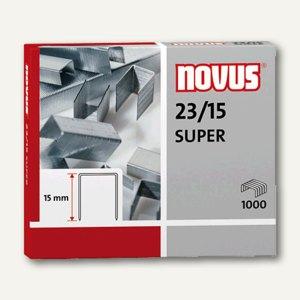 Novus Heftklammern 23/15, verzinkt, 1000 Stück, 042-0044