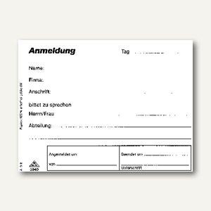 RNK Formular Besucheranmeldung, DIN A6 quer, weiß, 50 Blatt/Block, 3040