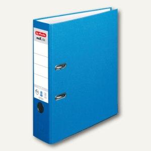 Herlitz Ordner maX.file nature plus DIN A4, 80 mm, blau, 10841393