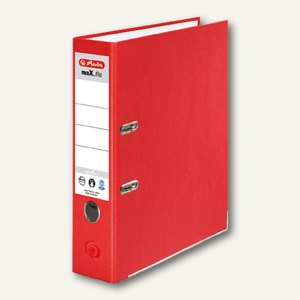 Herlitz Ordner maX.file nature plus DIN A4, 80 mm, rot, 10841385
