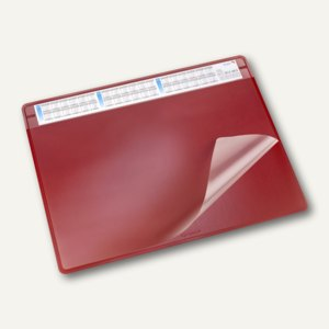 """Läufer Schreibunterlage """"Durella soft"""" - 50 x 65 cm, 3-Jahreskalender, rot,47654"""