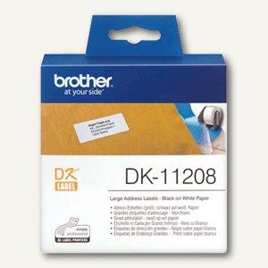 Brother DK Etiketten, Adressetiketten groß, 38 x 90 mm, 400 Stück, DK11208