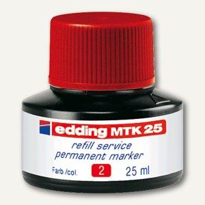 Edding Nachfülltusche e-MTK 25, rot, permanent, 25 ml, 4-MTK25002