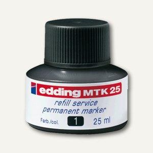 Edding Nachfülltusche e-MTK 25, schwarz, permanent, 25 ml, MTK25001
