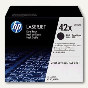 HP Toner 42X, Doppelpack, schwarz, Q5942XD