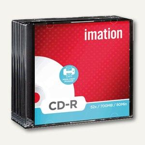 imation CD-R Rohlinge, 700MB, 52x, bedruckbar, Jewel Case, 10 Stück, 20259