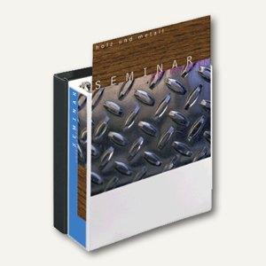 Präsentations-Ringbuch DIN A4, 4-Ringe, 30 mm, mit Außentaschen, weiß, 49703