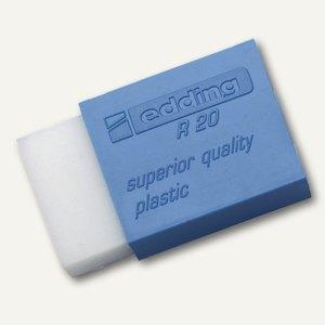 Edding Kunststoff Radierer R20, 45 x 24 x 10 mm, 4-R20
