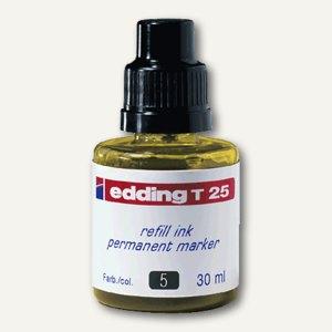 Edding Nachfülltusche T 25, gelb, permanent, 30 ml, T 25-005