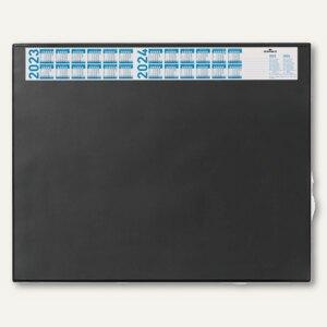 Schreibunterlage - 65 x 52 cm, Vollsichtfolie, Jahreskalender, schwarz, 7204-01