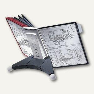 Durable Sichttafelständer SHERPA® TABLE 10, Tischfuß, mit 10 Tafeln, 5632-00