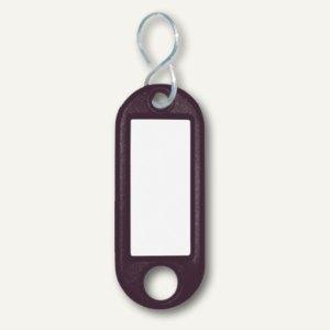 Wedo Schlüsselanhänger, Kunststoff mit S-Metallhaken, schwarz, 262803401