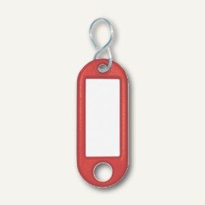Wedo Schlüsselanhänger, Kunststoff mit S-Metallhaken, rot, 262803402