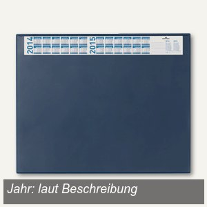 Schreibunterlage - 65 x 52 cm, Vollsichtfolie, Jahreskalender, dunkelblau, 7204-