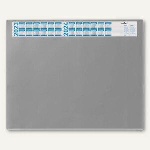 Schreibunterlage - 65 x 52 cm, Vollsichtfolie, Jahreskalender, grau, 7204-10