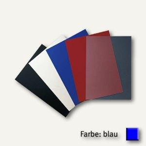 GBC Einbanddeckel PolyOpaque, DIN A4, PP, 300 mic., blau, 100 Stück, IB386800