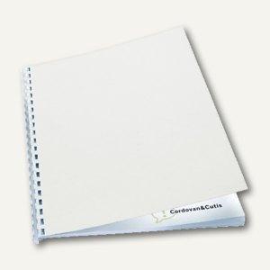 GBC Einbanddeckel LeatherGrain, DIN A4, Karton, 250g/qm, weiß, 100 St., CE040070
