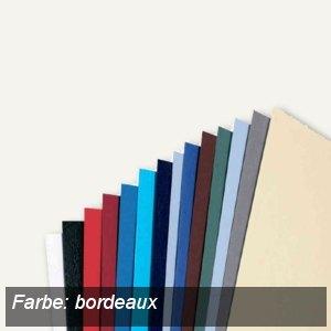 GBC Einbanddeckel LeatherGrain, A4, Karton, 250g/qm, bordeaux, 100St., CE040032