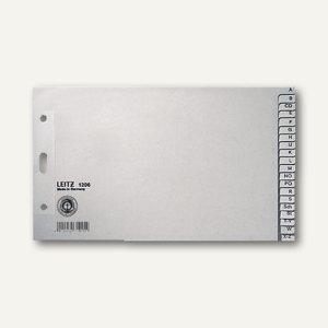 Register Papier für DIN A5 quer, 240 x 140 mm, A-Z, 20 Blatt, grau, 1206-00-85