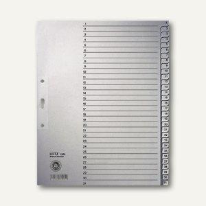 LEITZ Register DIN A4, Zahlen 1-31, grau, 1231-85