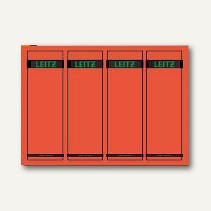 LEITZ Rückenschilder, PC-Beschriftung, breit/kurz, rot, 100 Stück, 1685-20-25