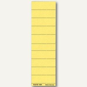 Beschriftungsschilder Sichtreiter, 60 x 21 mm, blanko gelb, 100 Stück, 19010015