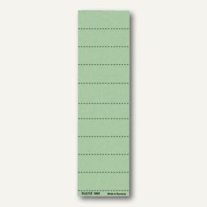 LEITZ Blanko-Schildchen, 60 mm breit, grün, 100 Stück, 19010055