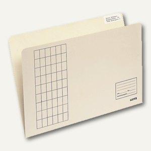 LEITZ Einstellmappen, 180 g/m², chamois, 100 Stück, 24330011
