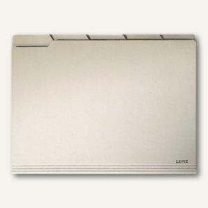 LEITZ Einstellmappe mit Tabs, 200 g/m², chamois, 100 Stück, 2434-00-11