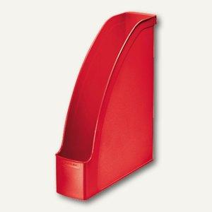 LEITZ Stehsammler Plus, DIN A4 hoch u. quer nutzbar, PS rot, 2476-00-25