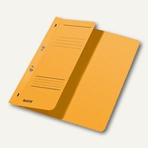 LEITZ Ösenhefter, DIN A4, 1/2-Deckel, kaufm. Heftung, gelb, 3740-00-15