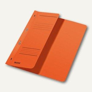 LEITZ Ösenhefter, DIN A4, 1/2-Deckel, kaufm. Heftung, orange, 3740-00-45