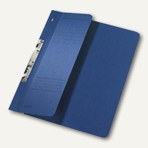 LEITZ Schlitzhefter DIN A4, Manilakarton, 1/2-Deckel, blau, 3744-00-35